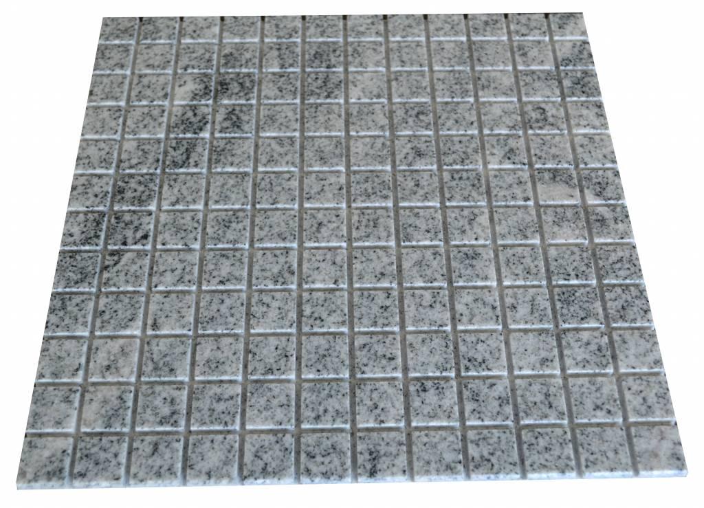 Viscount White Granit mosaic tiles