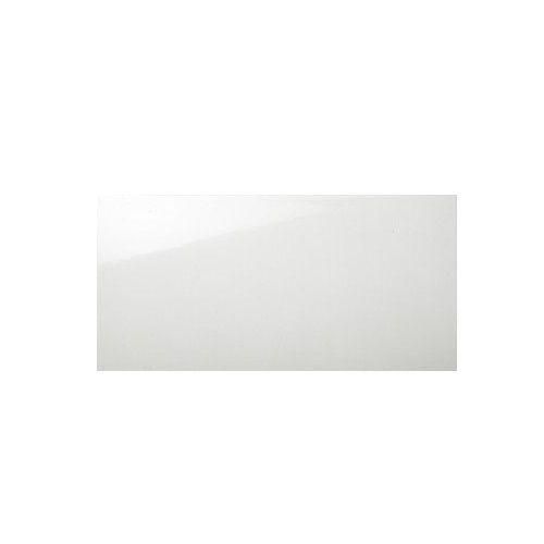 Biały uni Shiny sciana płytki 20x60 cm