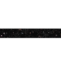 Black Star Galaxy Granite Socket, Polished, Preserved, Calibrated, 1st Choice