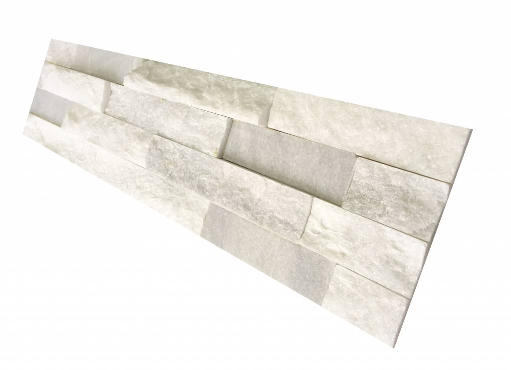 mur de pierre Quarzit Brickstone White