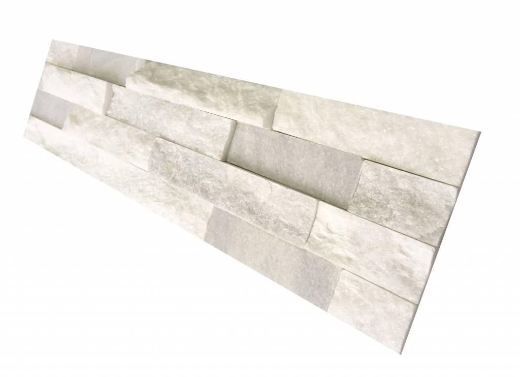White Kwarcyt cegły kamienia naturalnego