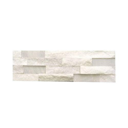 Weiß Quarzit Naturstein Verblender Wandverblender