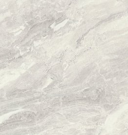 Dalles de sol Marble Light Grey Nairobi Perla polished, calibré, 1ère qualité premium de choix 80x80x1,1 cm