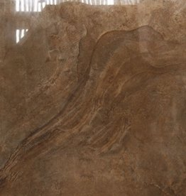 Axstone Brown Floor Tiles in Polished, chamfered , calibrated, 1.Choice in 60x60x1 cm