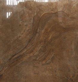 Axstone Brown vloertegels gepolijst, gekalibreerd, 1.Keuz in 60x60x1 cm