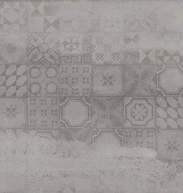 Bodenfliesen Feinsteinzeug Con Decor Grau 60x60x1 cm