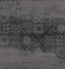 Retro Fliesen Con Decor Anthrazit 60x60x1 cm, 1.Wahl