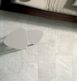 Blackboard White Floor Tiles in matt, chamfered , calibrated, 1.Choice in 60x60 cm