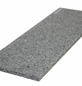 Padang Crystal Bianco 85x20x2 Natuursteen granieten vensterbank, gepolijst oppervlak, 1. Keuz, rand tot 1 lange zijde en 2 korte zijden afgeschuind en gepolijst, is het mogelijk om ook te meten!