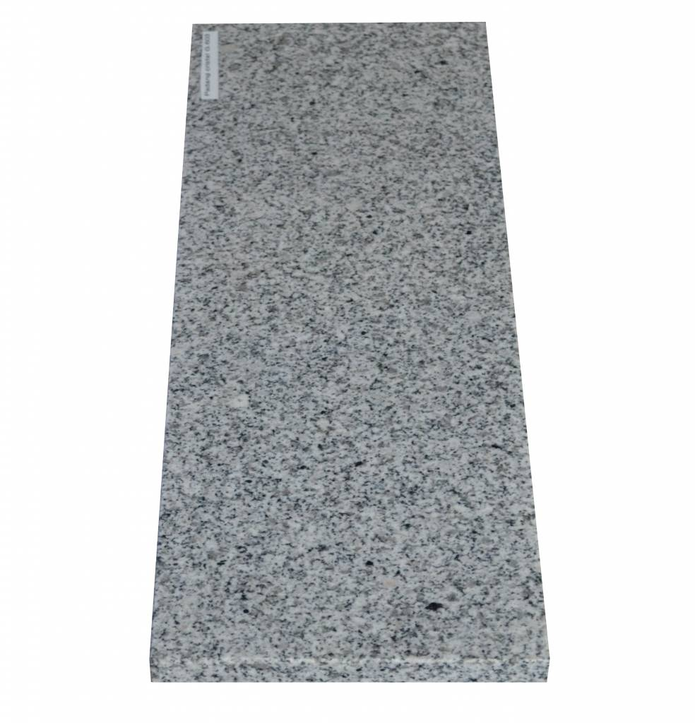 Padang Crystal Bianco Naturstein Granit Fensterbank 125x25x2 cm