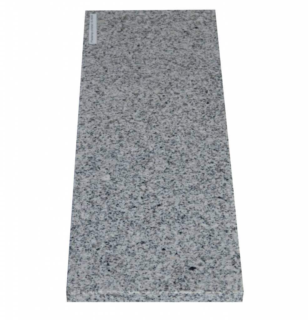 Padang Crystal Bianco Naturstein Granit Fensterbank 150x30x2 cm