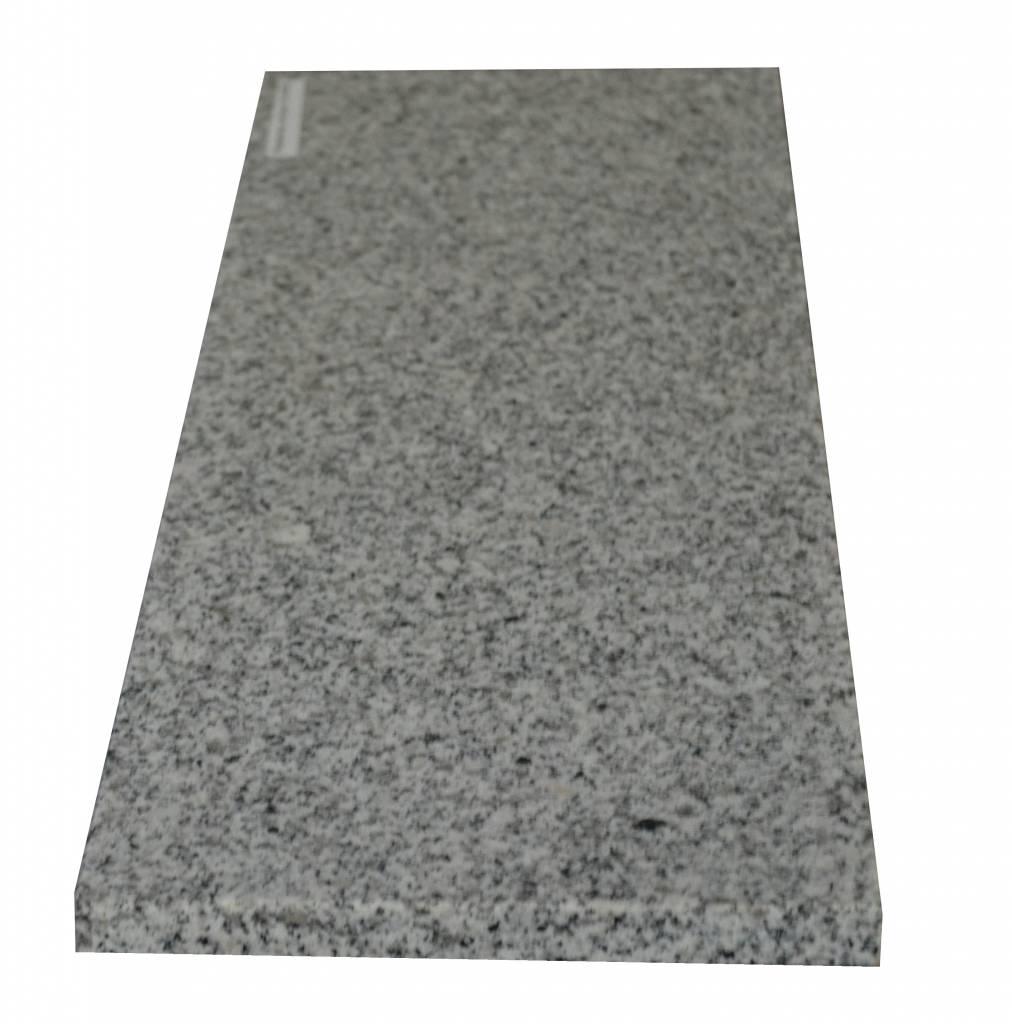 Padang Crystal Bianco Naturstein Granit Fensterbank 150x18x2 cm