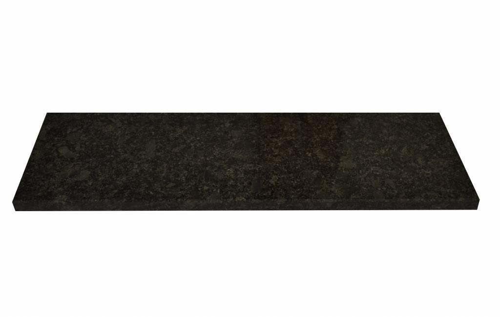 Steel Grey Natural stone windowsill 150x18x2 cm
