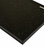 Black Star Galaxy Natural stone windowsill 125x25x2 cm