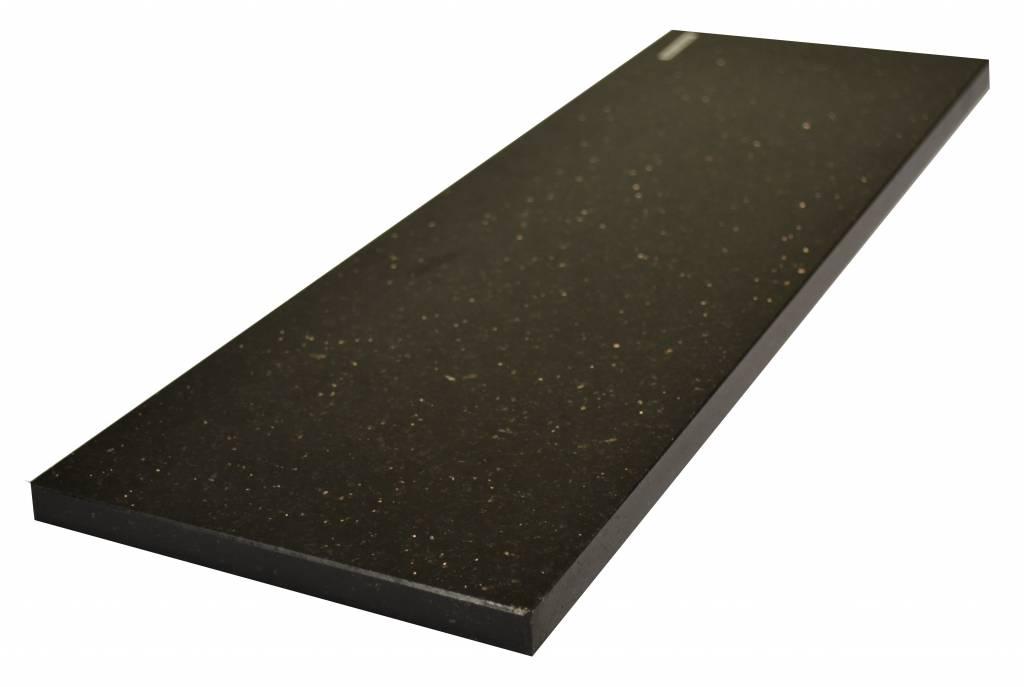 Black Star Galaxy Fenêtre de pierre naturelle seuil 150x30x2 cm