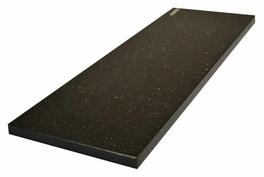 Black Star Galaxy Natural stone windowsill 140x25x2 cm