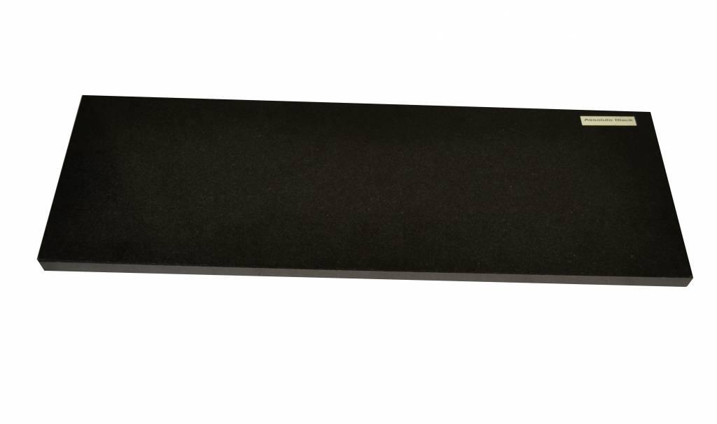 Nero Assoluto Black Natuursteen vensterbank 125x25x2 cm