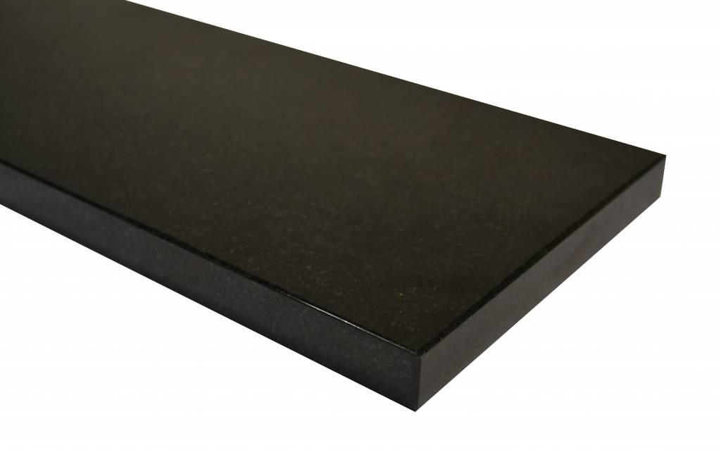 Nero Assoluto Black Natuursteen vensterbank 140x25x2 cm