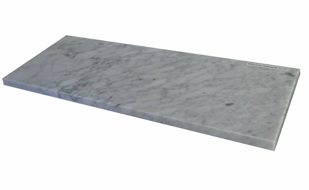 Bianco Carrara Marmeren vensterbank 125x25x2 cm