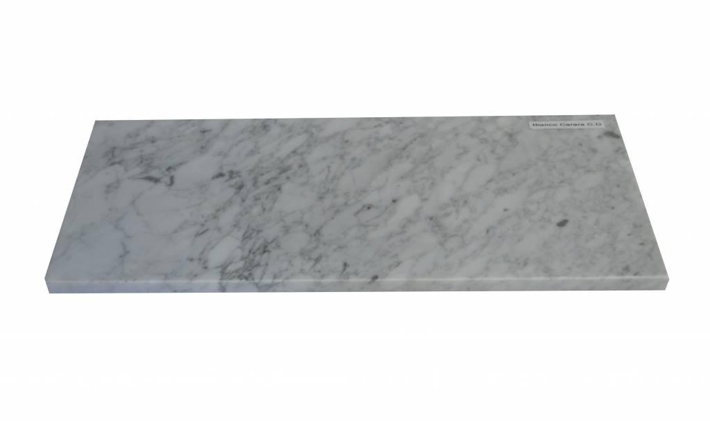 Bianco Carrara Marbre de fenêtre en marbre 125x25x2 cm
