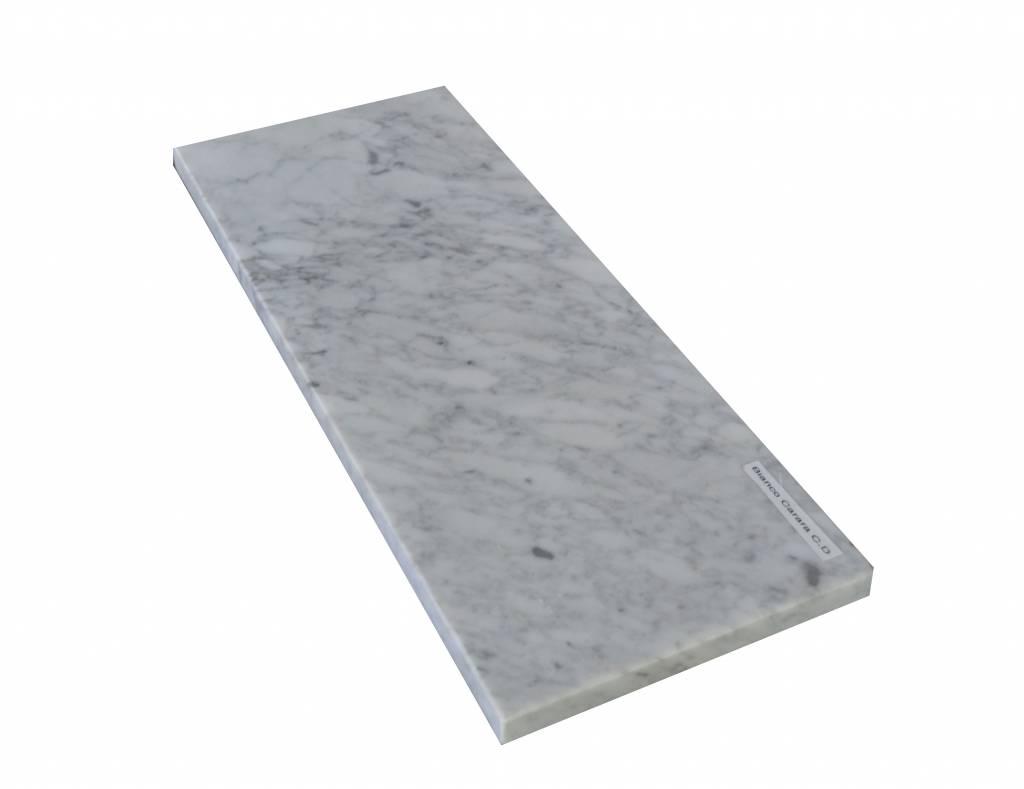 Appui de fenêtre en marbre Bianco Carrara 140x25x2 cm