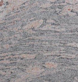 Juparana Colombo Dalles en granit poli, chanfrein, calibré, 1ère qualité premium de choix dans 61x30,5x1 cm