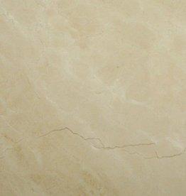 Carreaux de Marbre Crema Marfil naturel brillant, chanfreinés, calibré, 1. Choice de première qualité dans 61x30,5x1 cm