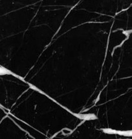 Nero Marquina Marble tiles polished, chamfered, calibrated, 1. Choice Premium quality in 61x30,5x1 cm