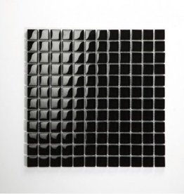 Nero Black glas mosaic tiles 1. Choice in 30x30x1 cm