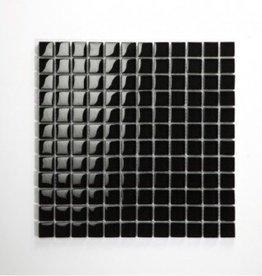 Nero Black verre Mosaïque Carrelage 1. Choice dans 30x30x1 cm