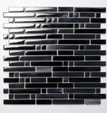Palermo Black glas mosaic tiles