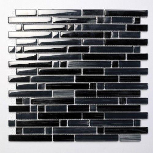 Palermo Black Glas Mosaikfliesen