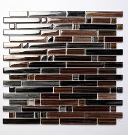 Palermo Brown glas mosaic tiles 1. Choice in 30x30x1 cm
