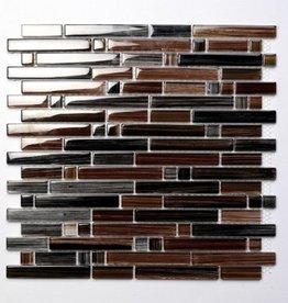 Palermo Brown Glas Mosaikfliesen 1.Wahl Premium Qualität in 30x30 cm