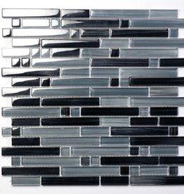 Palermo Grey szklana mozaiki 1. wybór w 30x30x1 cm