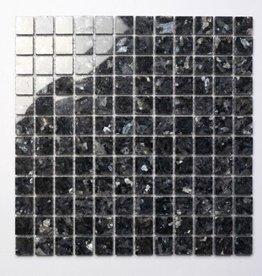 Blue Pearl kamienia naturalnego mozaiki 1. wybór w 30x30x1 cm