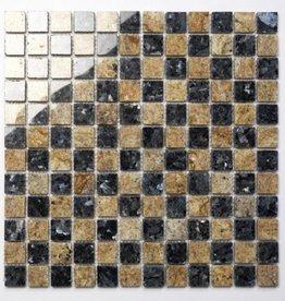 Blue Pearl Kashmir Gold Naturstein Mosaikfliesen 1.Wahl in 30x30 cm