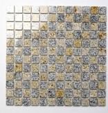 Padang Cristal Yellow Natural stone mosaic tiles