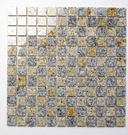 Padang Cristal Yellow Natural stone mosaic tiles 1. Choice in 30x30x1 cm