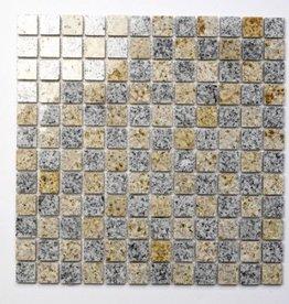 Padang Cristal Yellow Natuursteen Mozaïek Tegels 1. Keuz in 30x30x1 cm