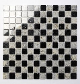 Star Galaxy Kashmir White pierre naturelle Mosaïque Carrelage 1. Choice dans 30x30x1 cm
