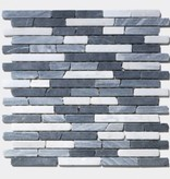France Carrara Marquina Natural stone mosaic tiles