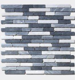 France Carrara Marquina kamienia naturalnego mozaiki 1. wybór w 30x30x1 cm