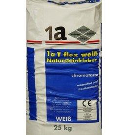 1-A T-Flex Natuursteen Lijm Wit 25 Kg