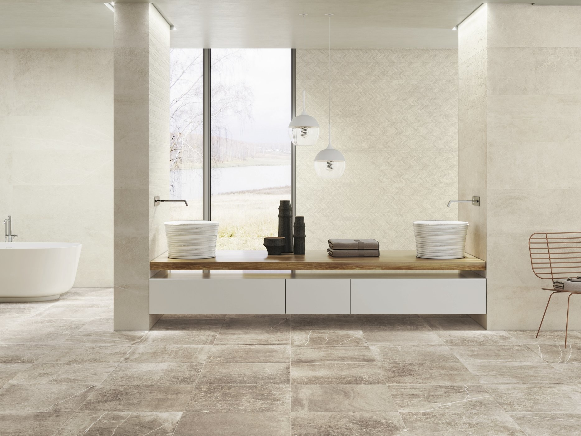 Floor Tiles Nickon Taupe