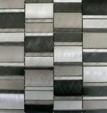 Selenite Matal mosaic tiles