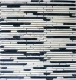 Superslim Carrara pierre naturelle Mosaïque Carrelage 1. Choice dans 30x30x1 cm