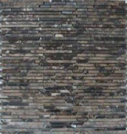 Superslim Emperador pierre naturelle Mosaïque Carrelage 1. Choice dans 30x30x1 cm