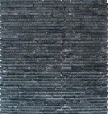 Superslim Negro Natural stone mosaic tiles