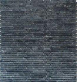 Negro Superslim pierre naturelle Mosaïque Carrelage 1. Choice dans 30x30x1 cm